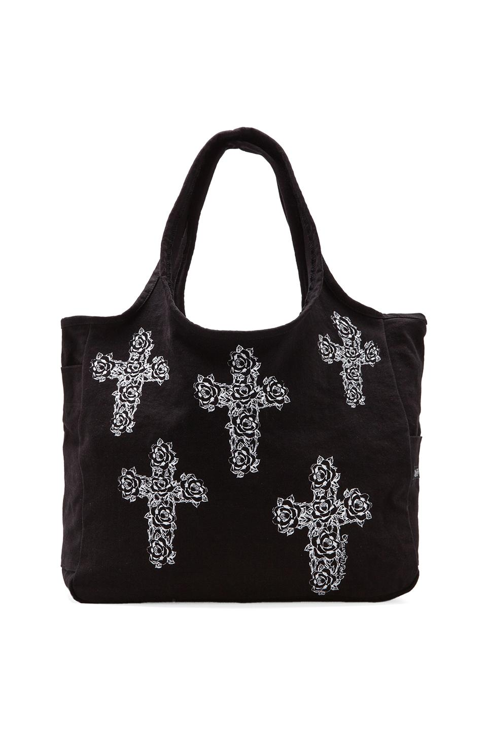 Lauren Moshi Taylor Mini Cross Cross Tote in Black