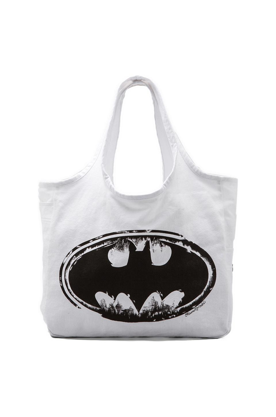 Lauren Moshi Taylor Batman Canvas Tote in White