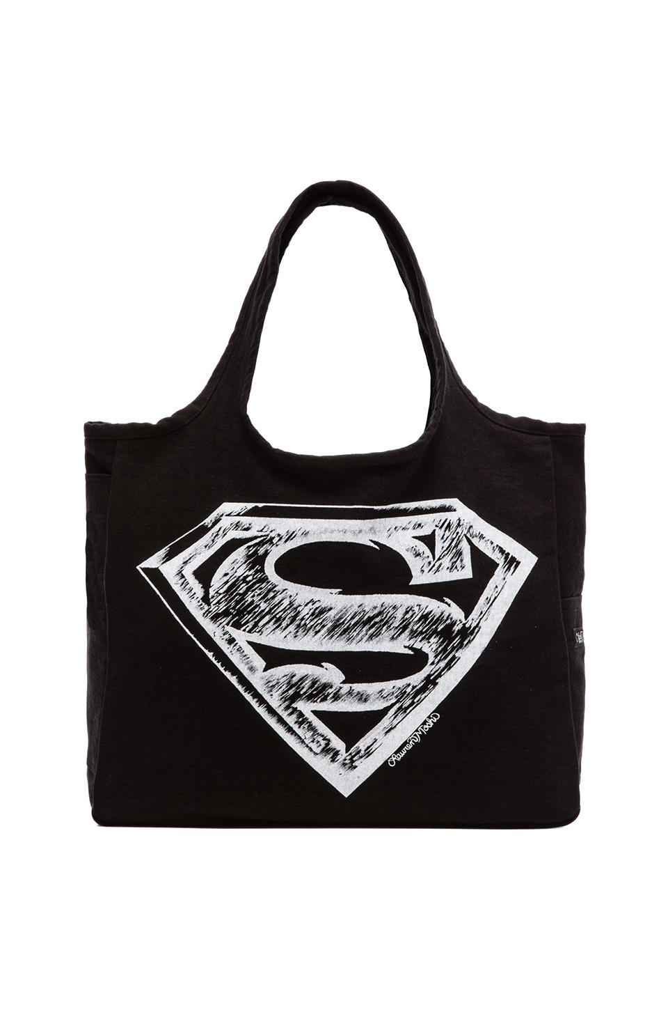 Lauren Moshi Taylor Superman Canvas Tote in Black