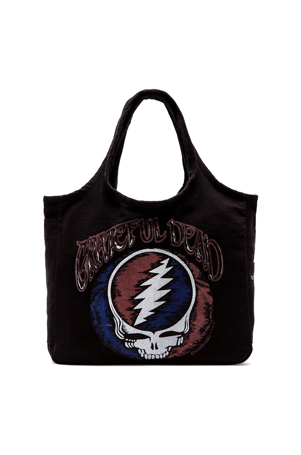 Lauren Moshi Taylor Grateful Dead Canvas Tote in Black