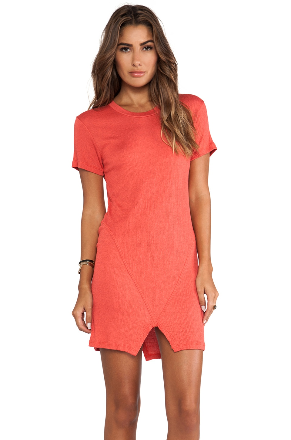 LNA Santos Dress in Coral