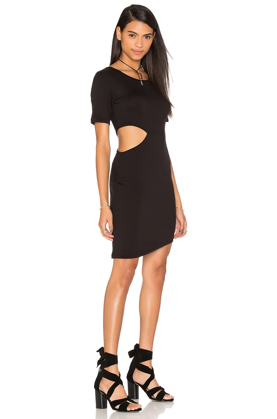 Cut Out Side T-Shirt Dress by LNA