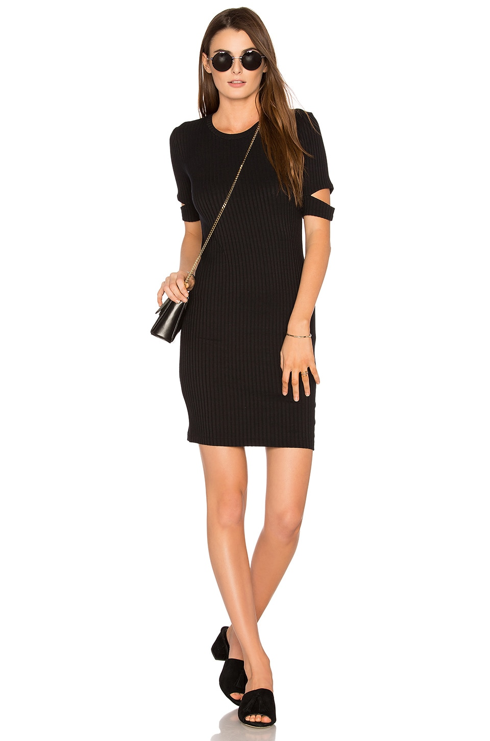 LNA Mini Esso Dress in Black