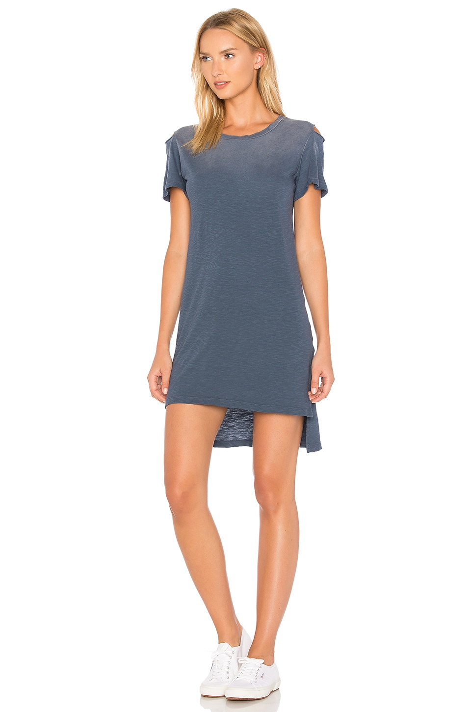 LNA Luna Tee Dress in Navy Ink Potassium