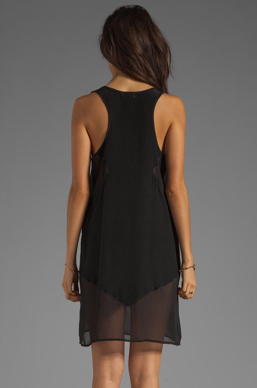 LNA Sherwood Tank Dress in Black