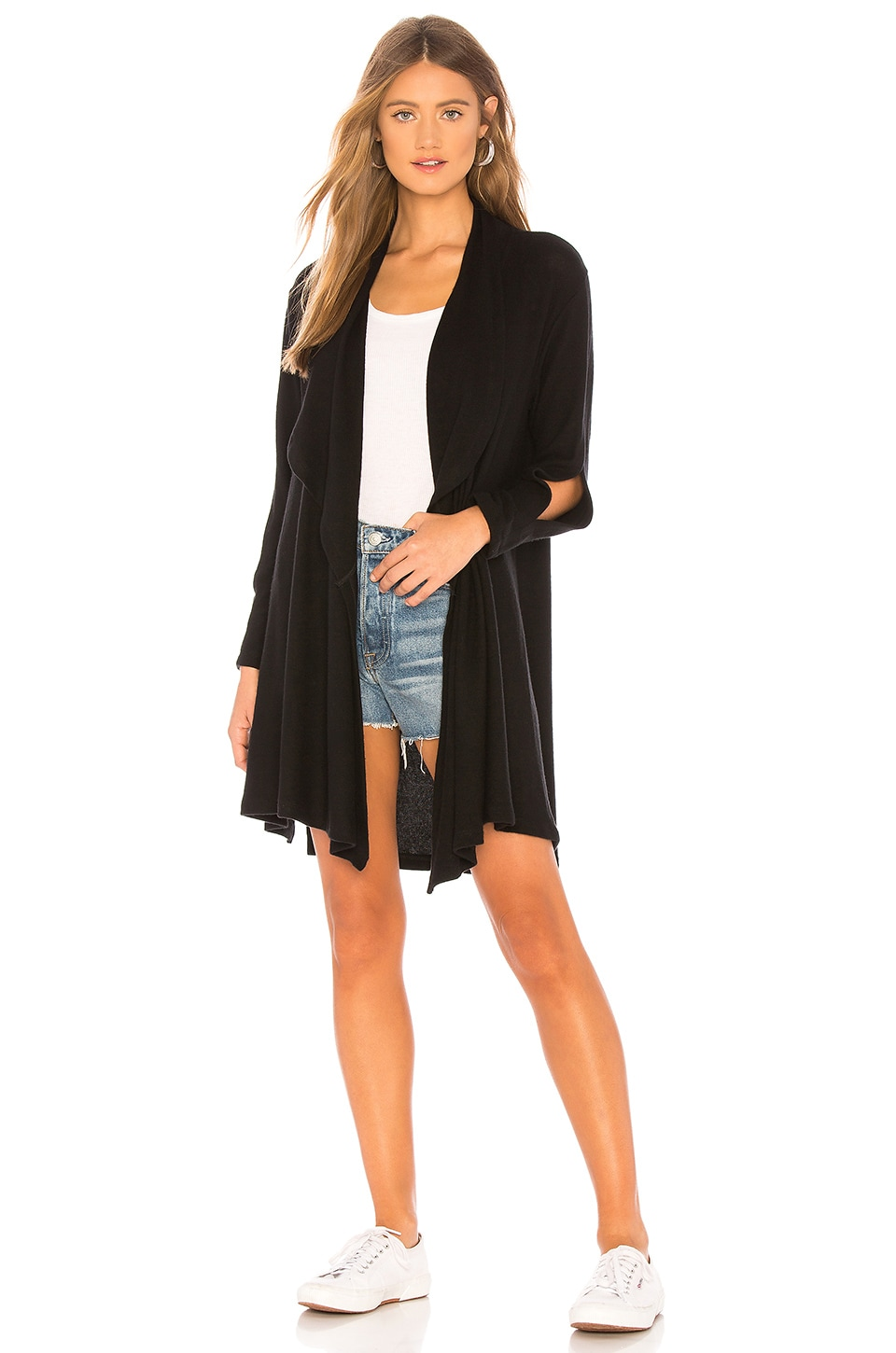 LNA Diverge Cardigan in Black