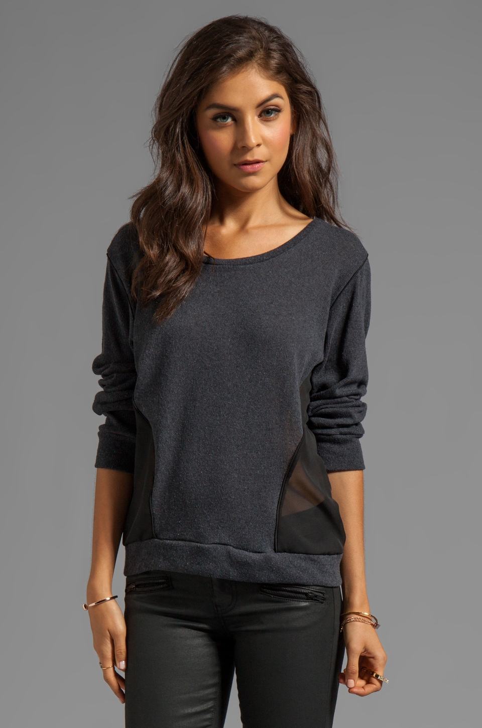 LNA Matteo Sweater in Charcoal