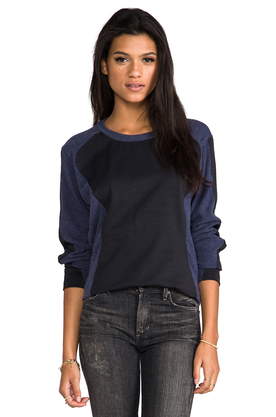LNA Armor Sweater in Navy/Black