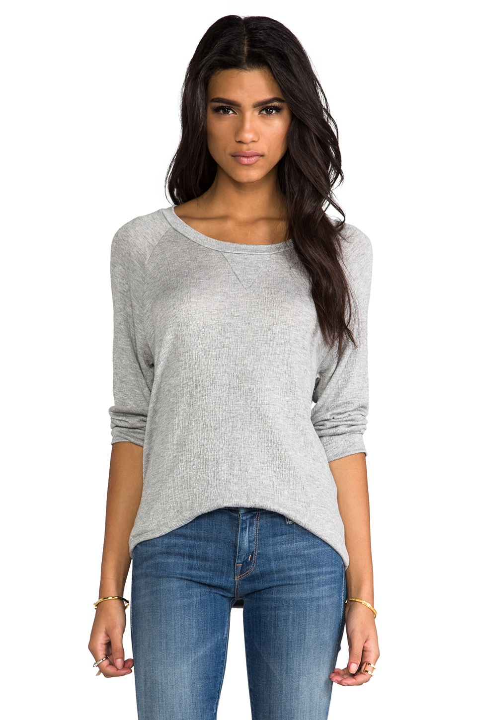 LNA Bearitz Raglan in Heather Grey