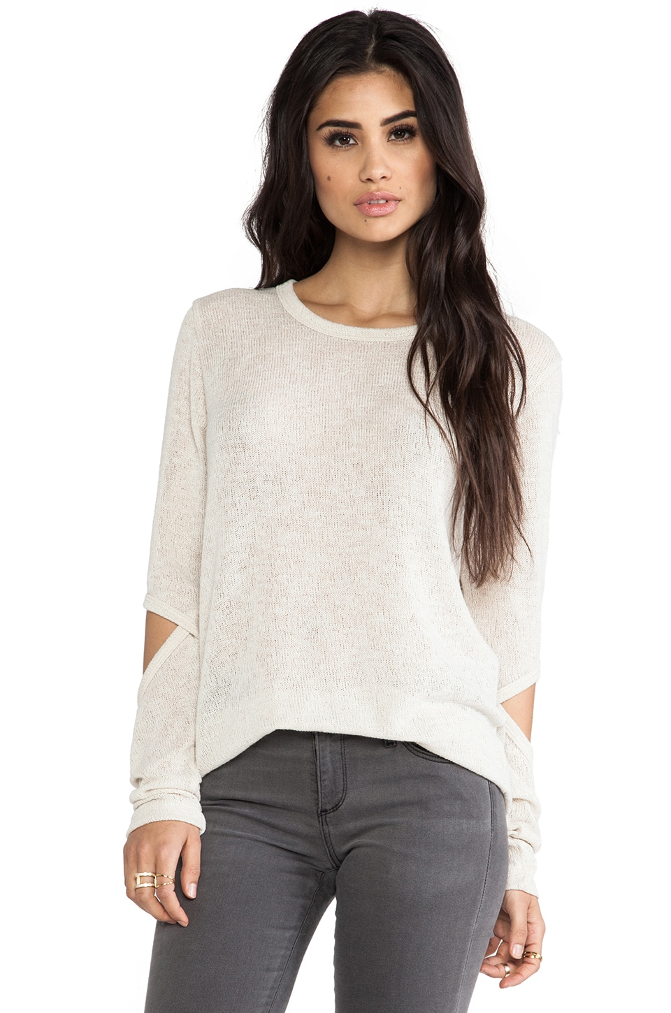 LNA Durango Sweater in Ecru