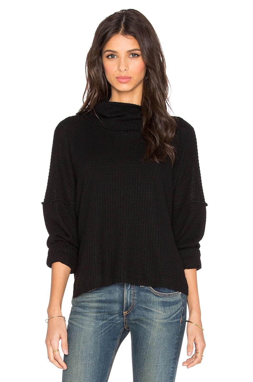 LNA Oversized Turtleneck Sweater in Black | REVOLVE