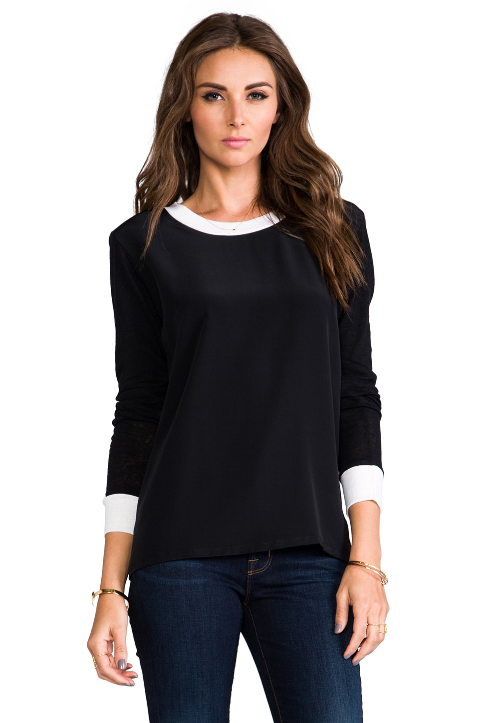 LNA Rowe Long Sleeve in Black