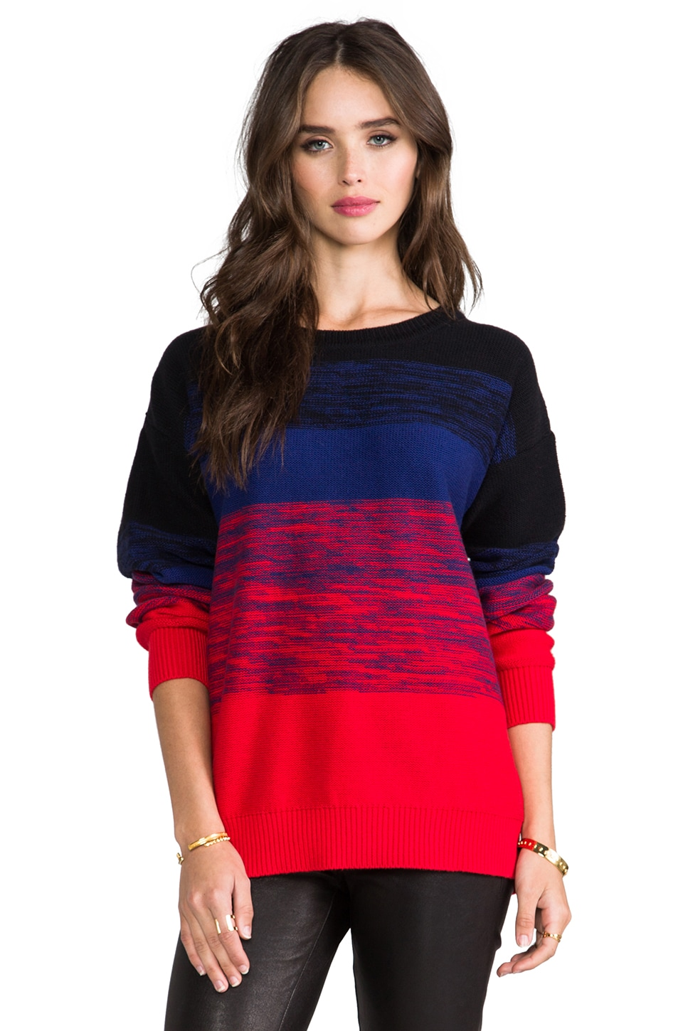 LNA Donnie Sweater in Red & Blue
