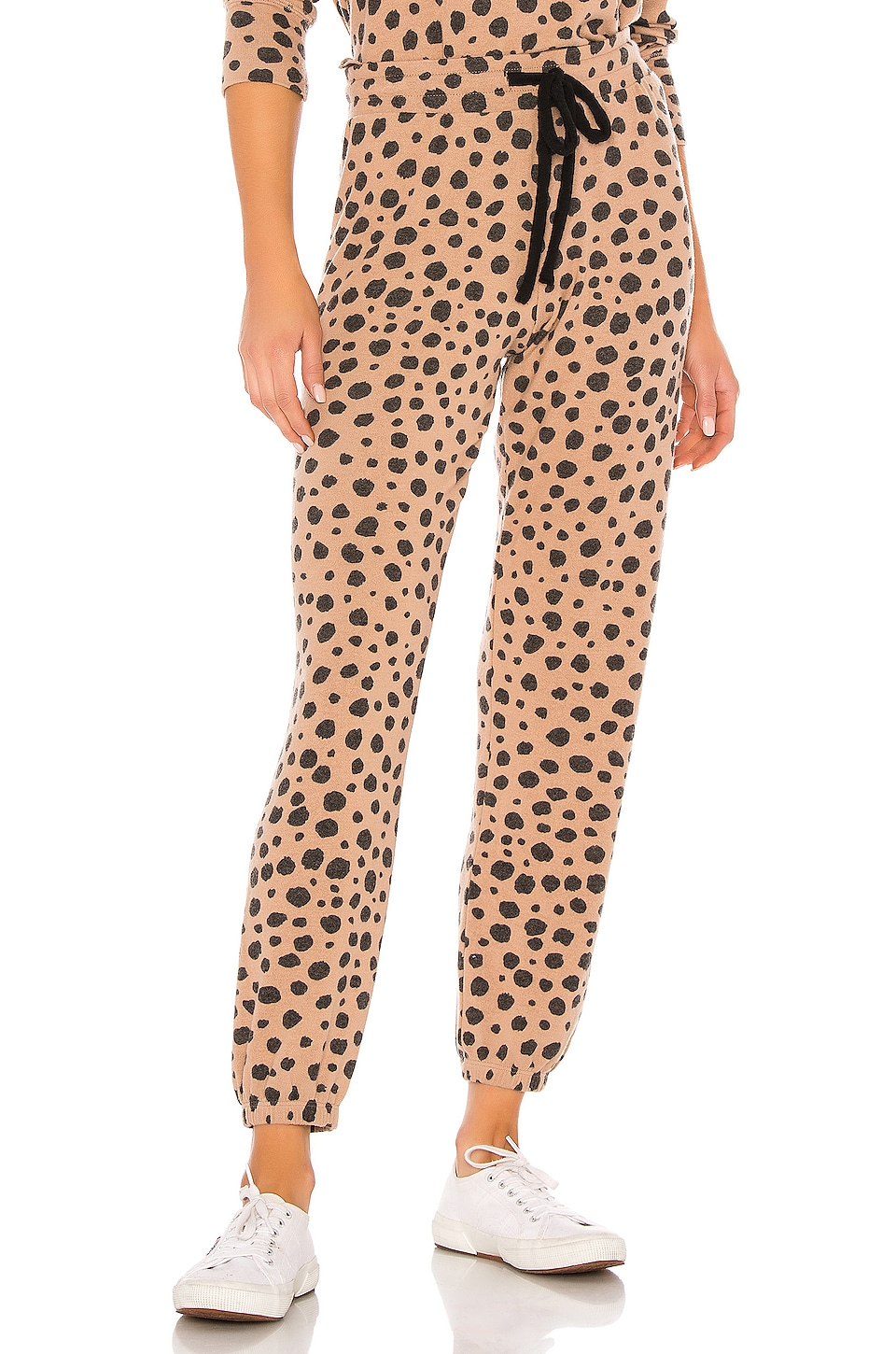 LNA Brushed Jogger in Cheetah