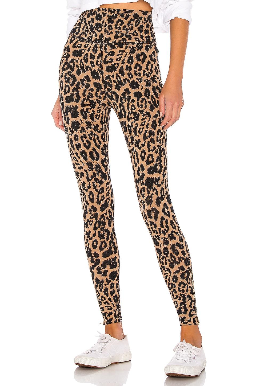 LNA Leopard Zipper Legging in Leopard