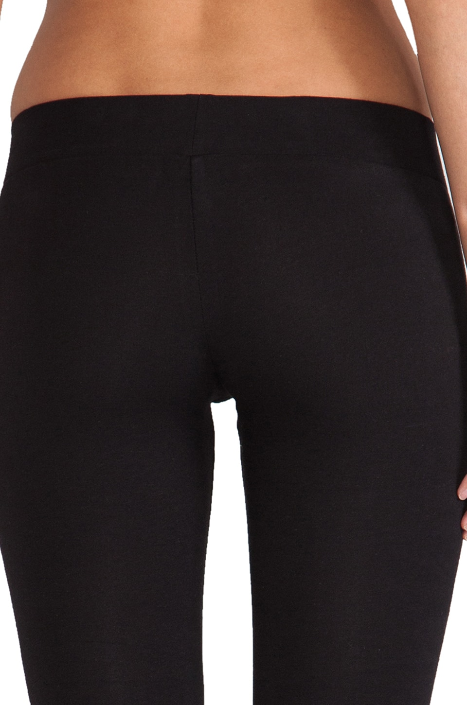 LNA Zipper Legging in Flat Black