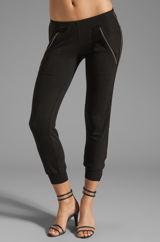 LNA Isaac Zip Pant in Black