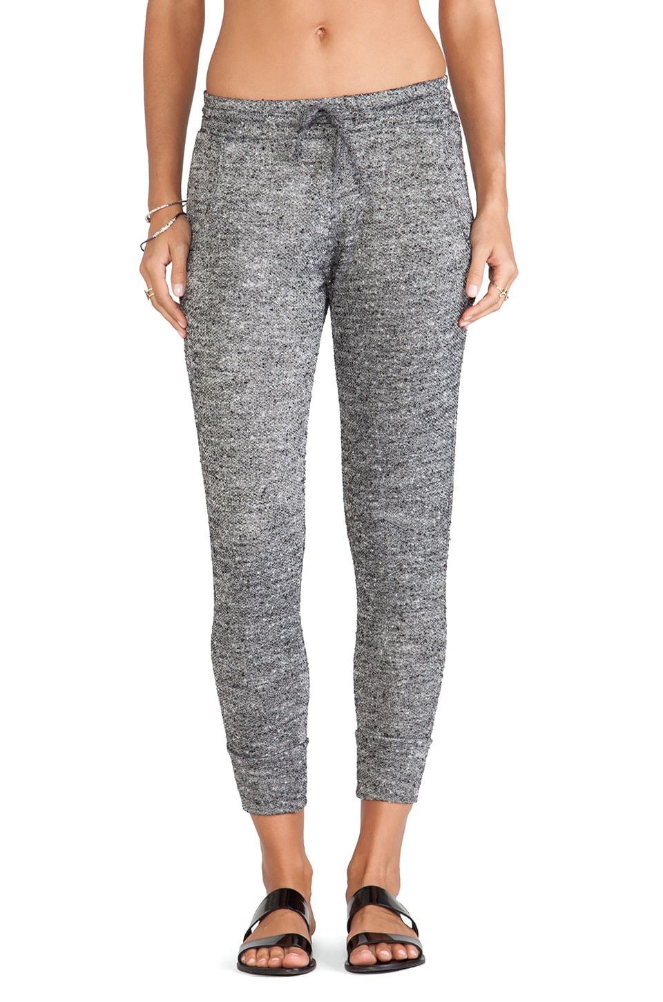 LNA Beach Sweatpant in Black Marble