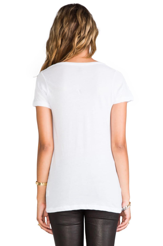 LNA Deep V Tee in White