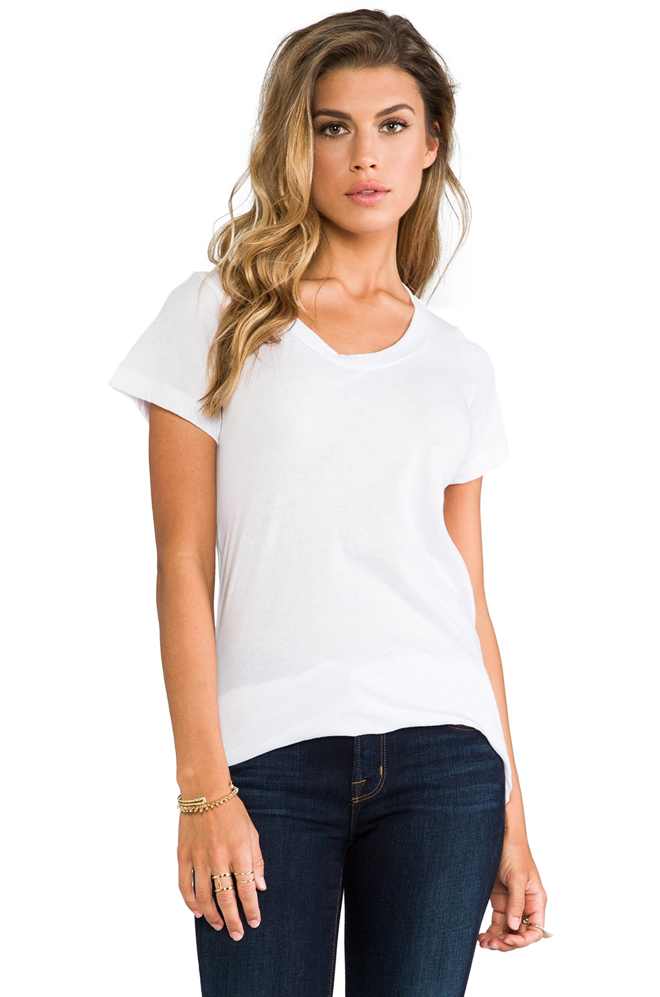 LNA Crew Neck Tee in White