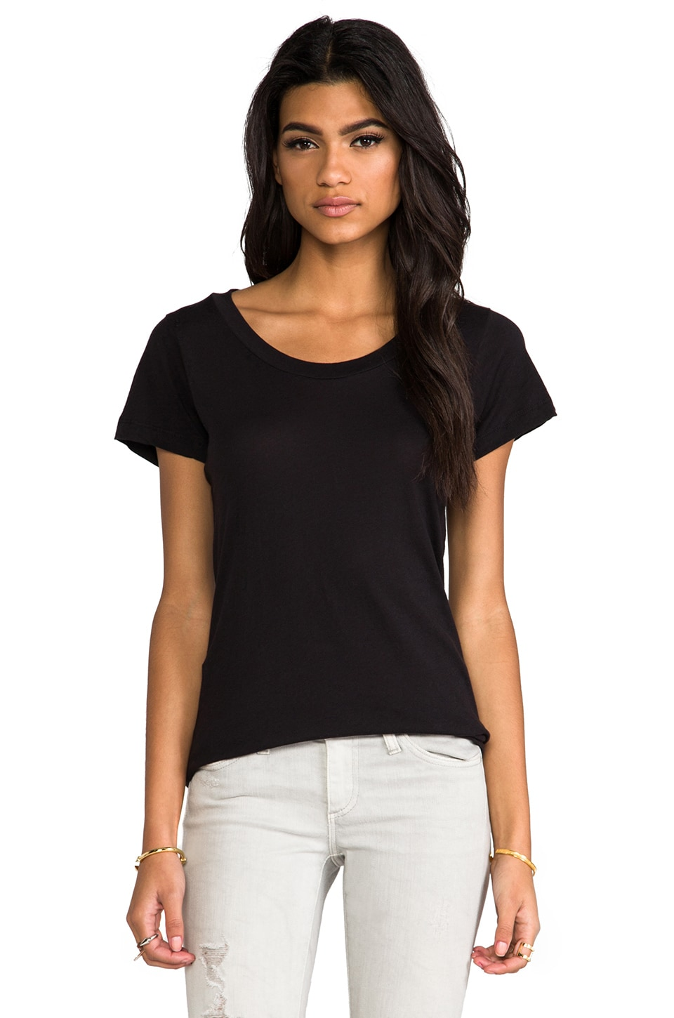 LNA Short Sleeve Crew Tee in Black