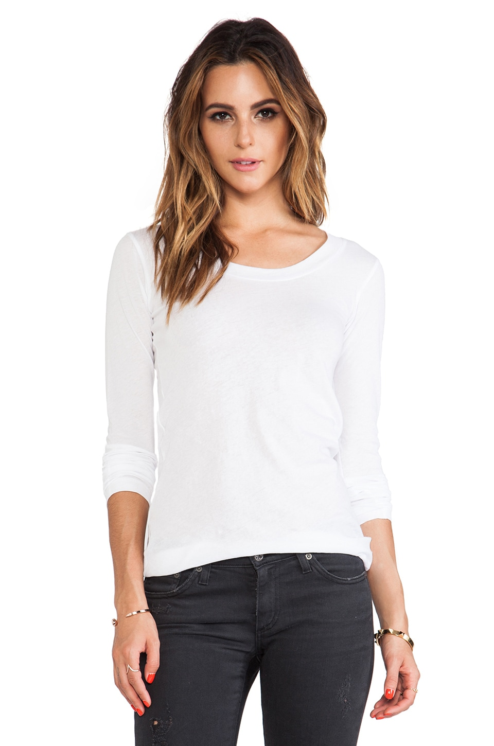 LNA Long Sleeve Crew in White