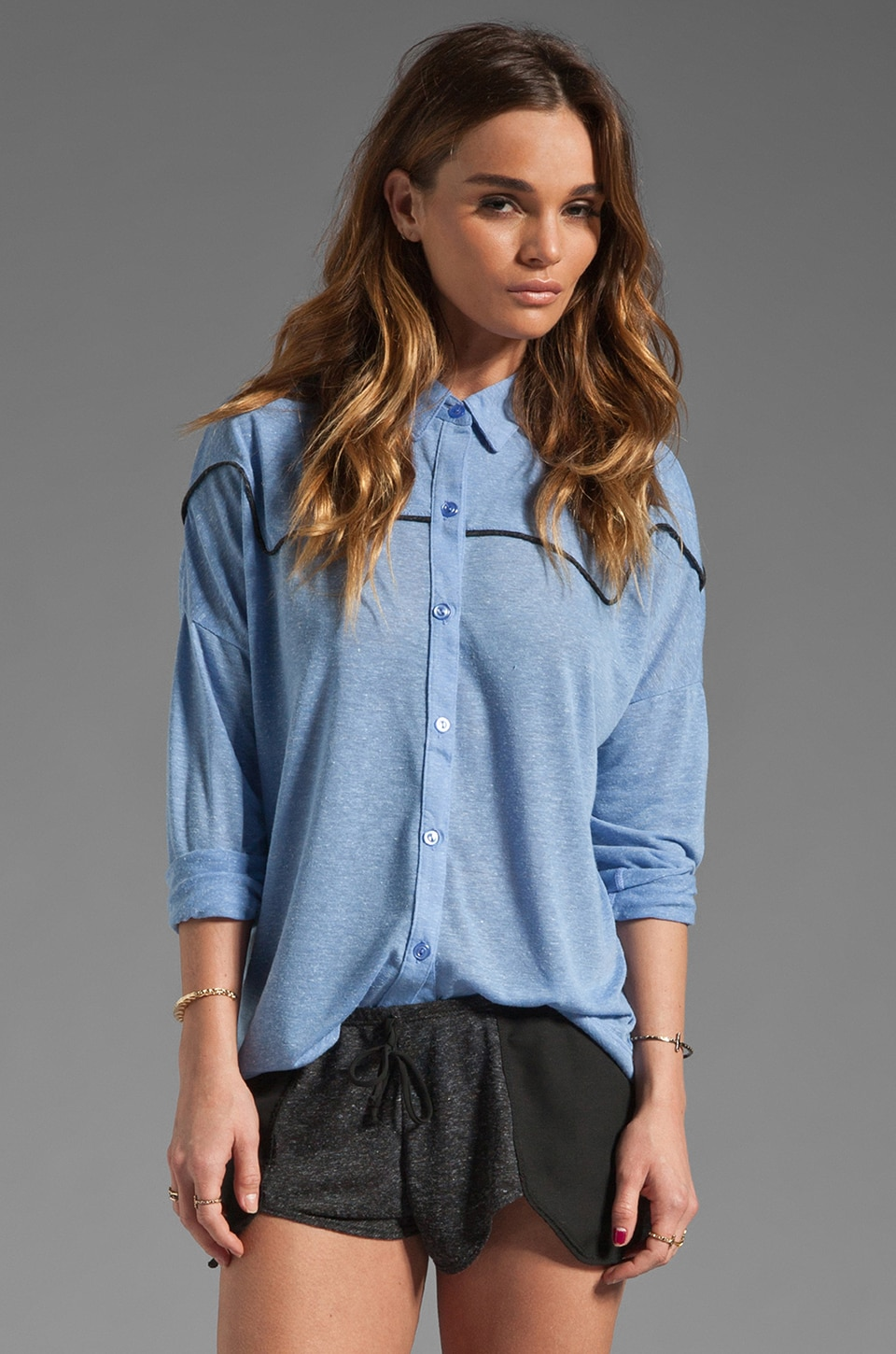 LNA Normandy Shirt in Pacific Blue