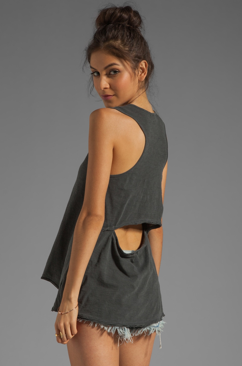 LNA Cedar Tank in Solid Black