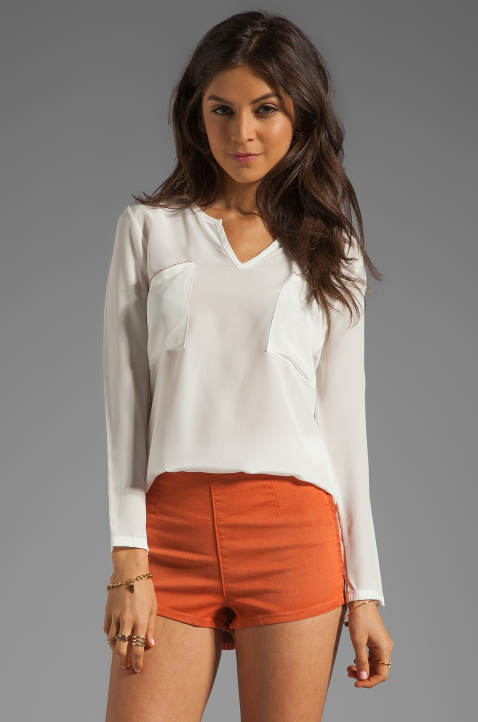 LNA Owen Blouse in Ivory