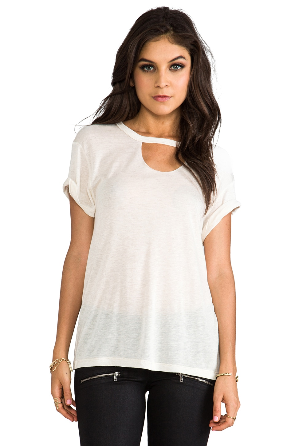LNA Mosshart Tee in White