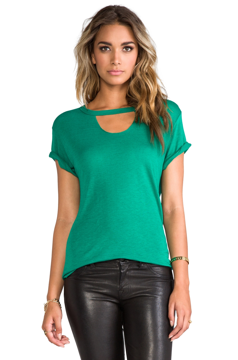 LNA Mosshart Tee in Emerald