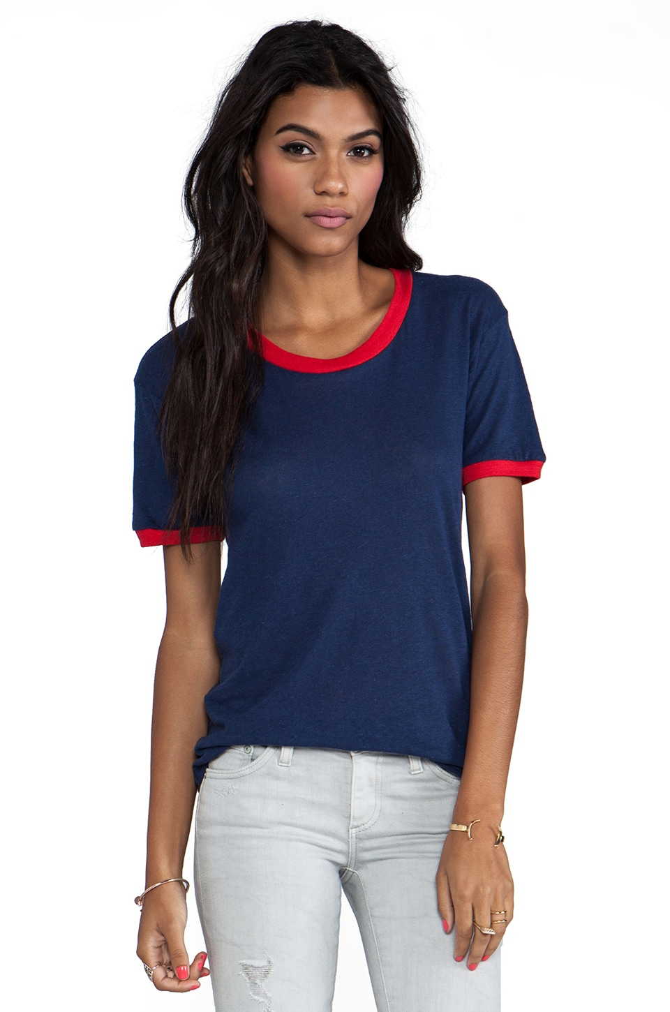 LNA Binger Tee in Navy