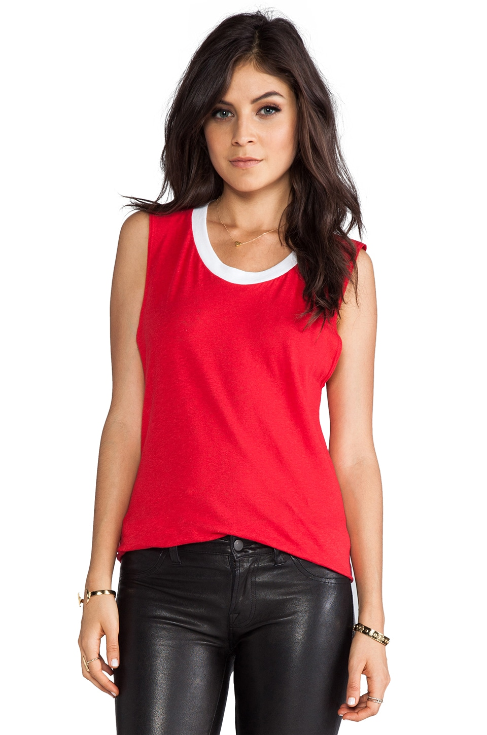 LNA Binger Sleeveless in Red