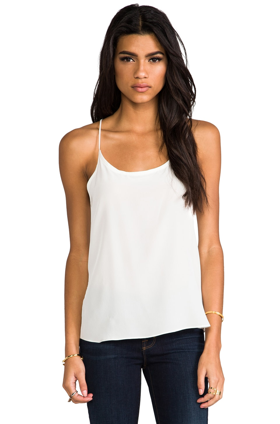 LNA Silk Camisole in Ivory