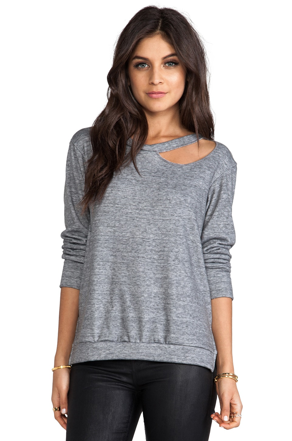 LNA Cueva Sweatshirt in Heather Grey