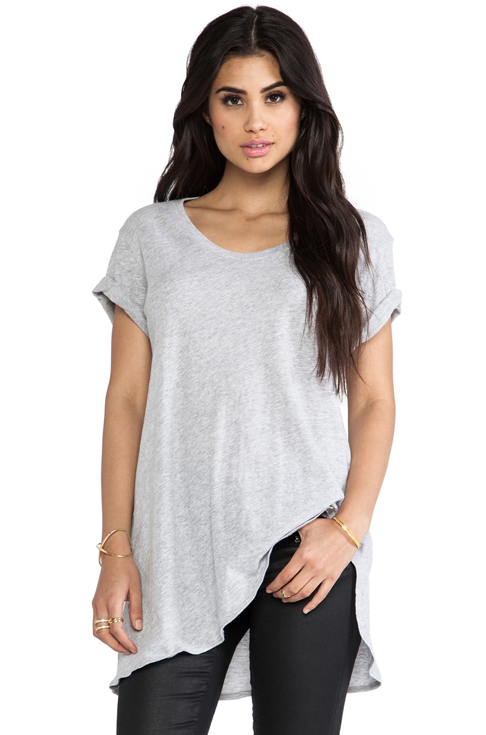 LNA Ensenada Tee in Heather Grey