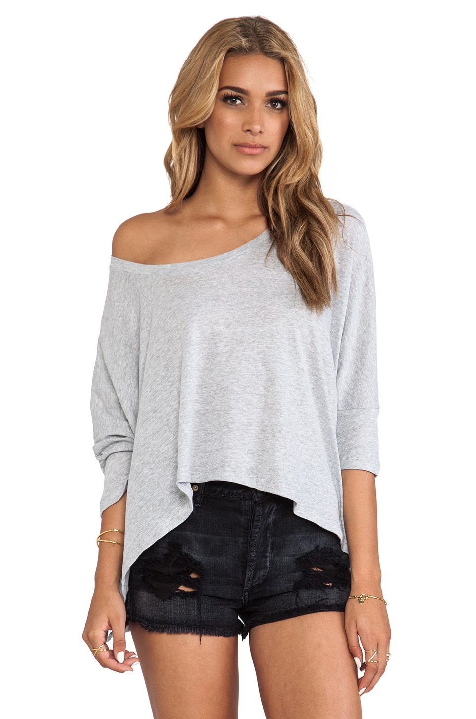 LNA Cape Tee in Heather Grey