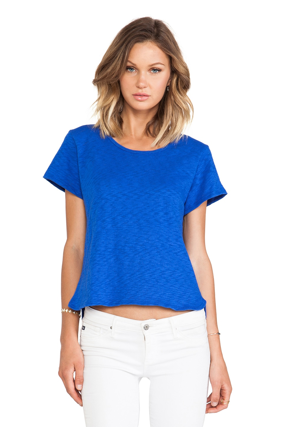 LNA Globe Tee in Royal Blue