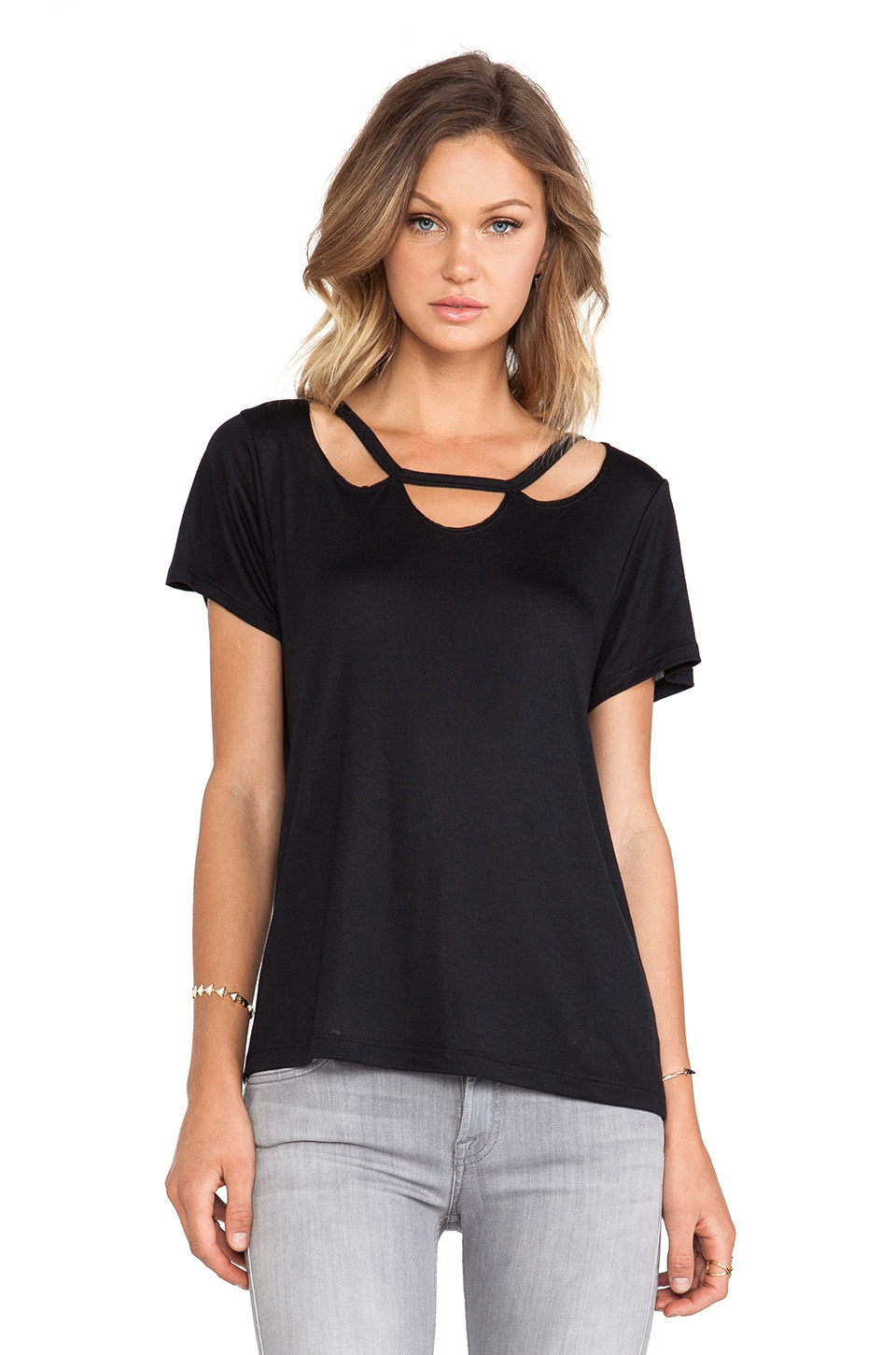LNA Dillion Tee in Black