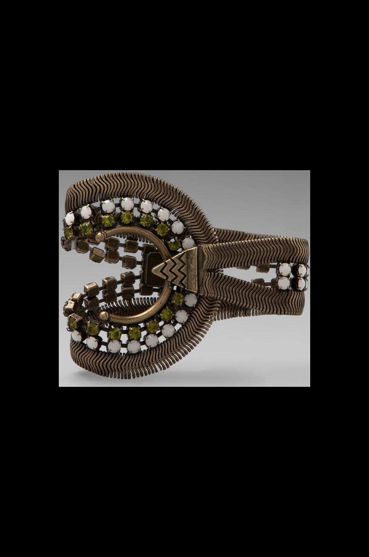 Lionette by Noa Sade Soho Bracelet in Gold/White/Olive