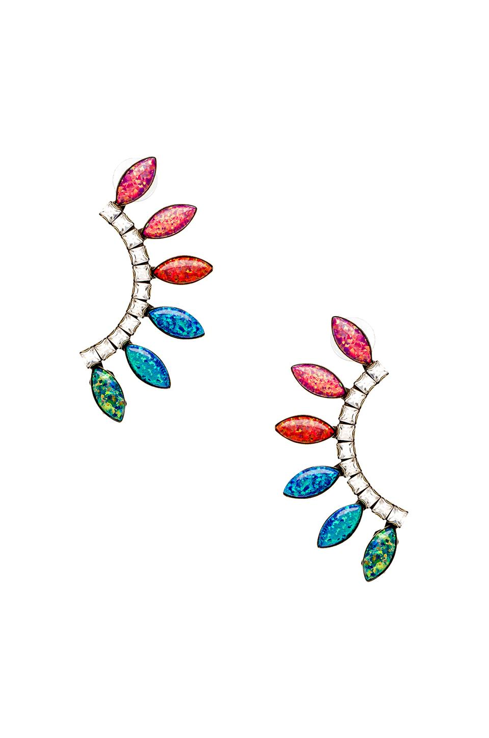 Lionette by Noa Sade Byron Bay Earrings in White Multi