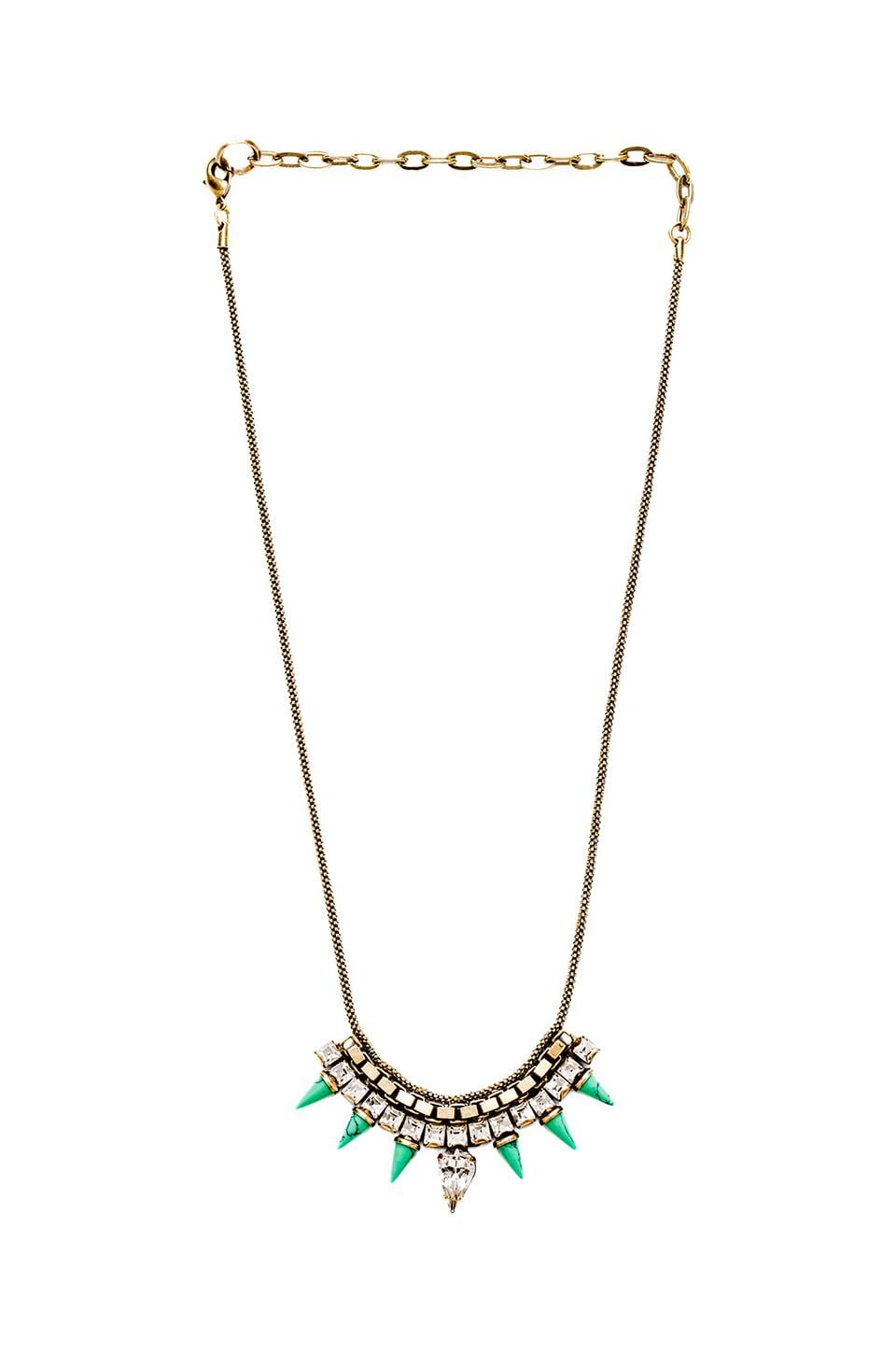 Lionette by Noa Sade Pangea Necklace in Clear Turquoise