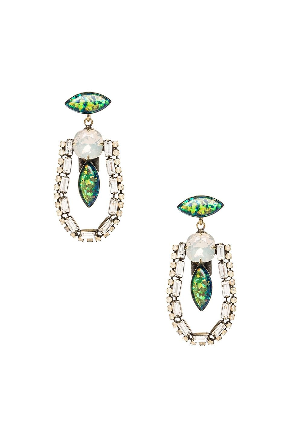 Lionette by Noa Sade Annie Earrings in Green
