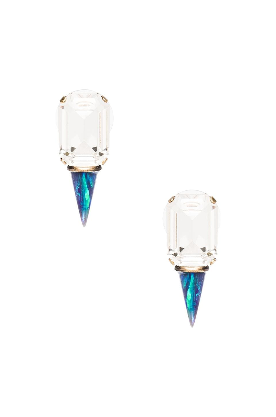 Lionette by Noa Sade Gali Earrings in Clear/Blue