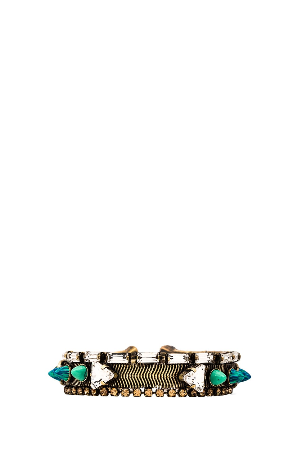 Lionette by Noa Sade Caspi Bracelet in Green