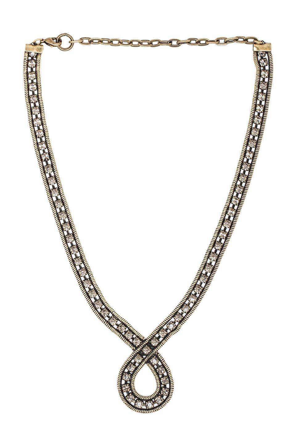 Lionette by Noa Sade Zoe Necklace in Black/Diamond
