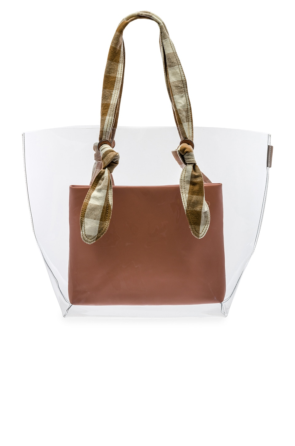 Loeffler Randall Lydia Tote in Clear, Brown & Apricot