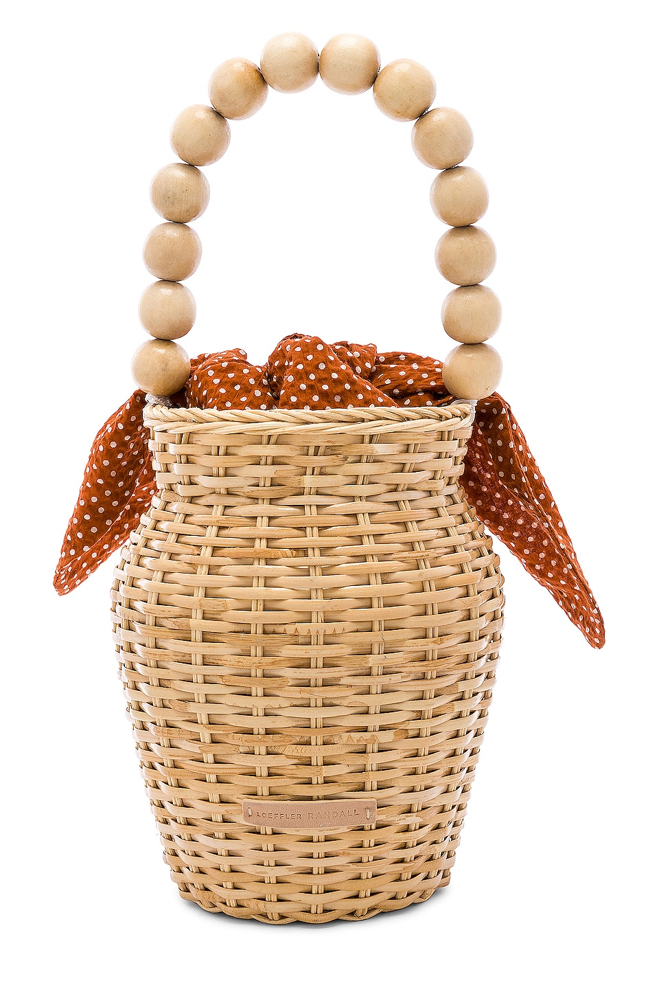 Loeffler Randall Wicker Tote in Blonde & Penny