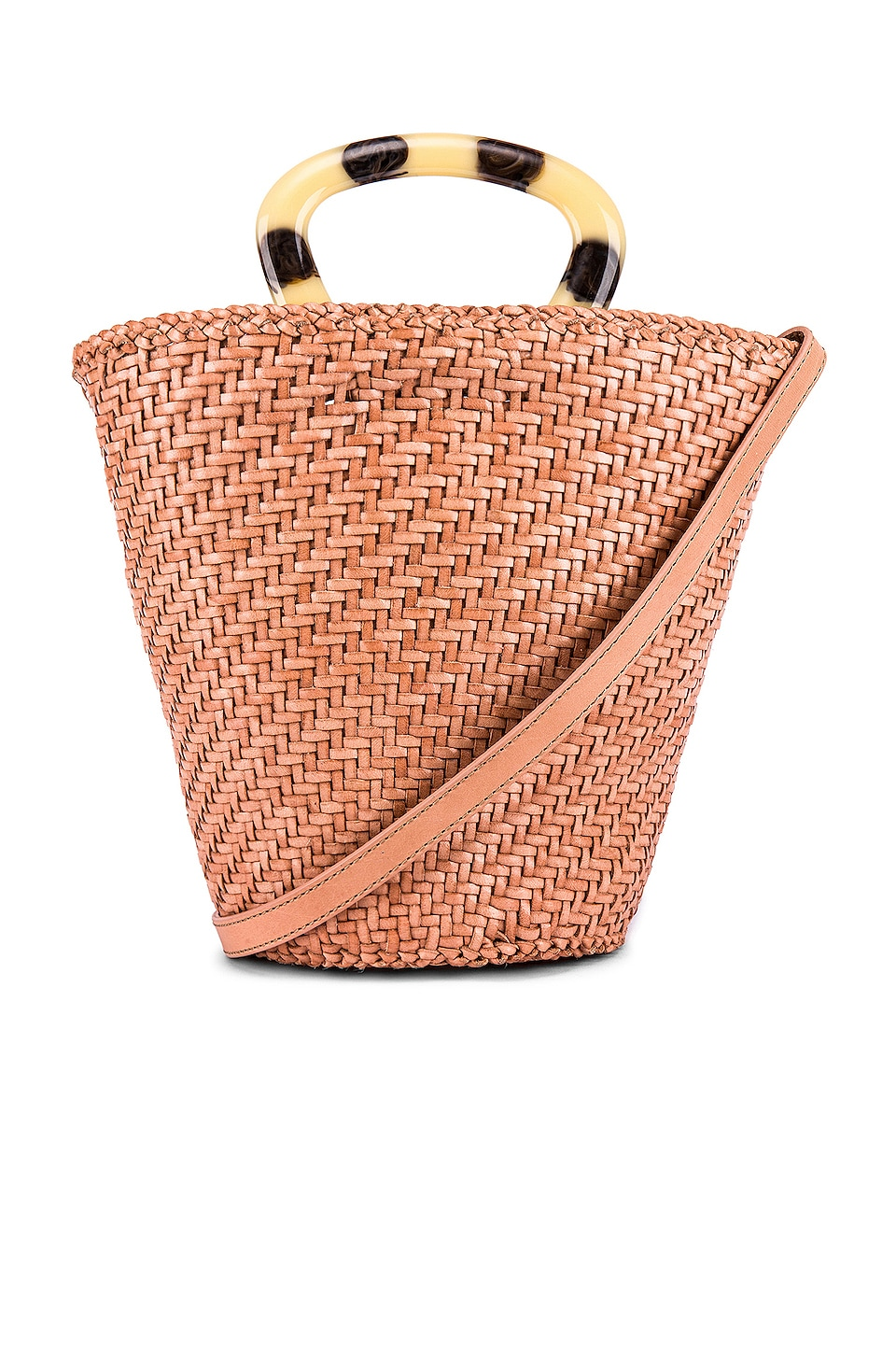 Loeffler Randall Woven Fan Tote in Blush