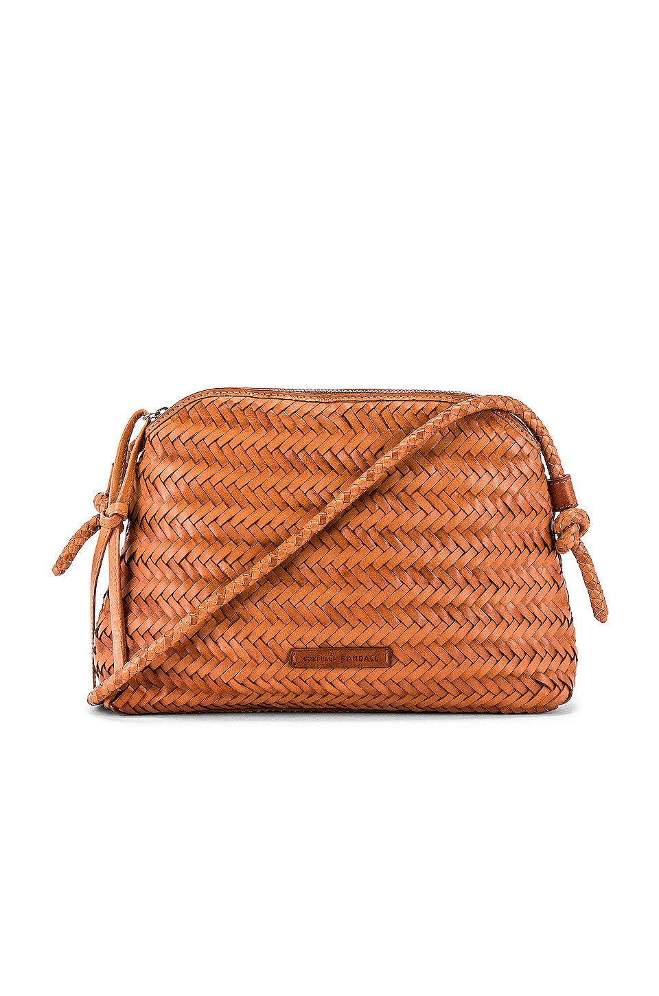 Loeffler Randall Mallory Woven Crossbody Bag in Timber Brown